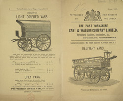 Advert for the East Yorkshire Cart & Wagon Company Ltd